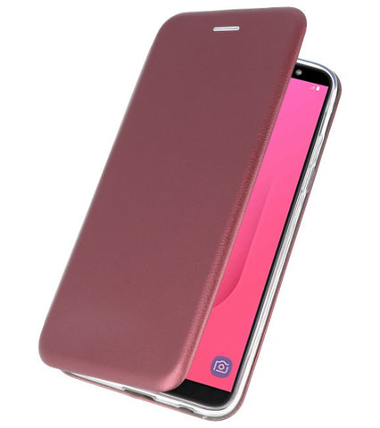 Samsung Samsung Galaxy J8 2018 Bordeaux Rood | Slim Folio Case  | WN™ - hoesjeshoek