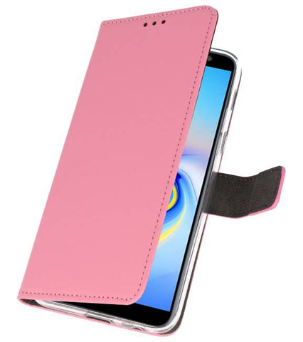 Samsung Galaxy J6 Plus Roze | Wallet Case Hoesje  | WN™ - hoesjeshoek