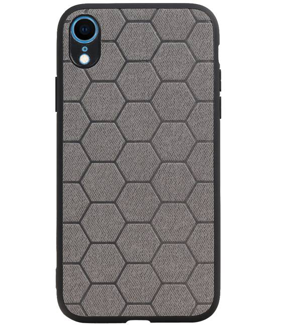 iPhone XR Grijs | Hexagon Hard Case  | WN™ - hoesjeshoek