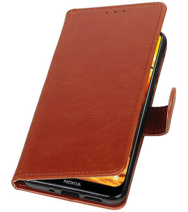 Nokia 8.1 Bruin | Premium bookstyle / book case/ wallet case  | WN™ - hoesjeshoek