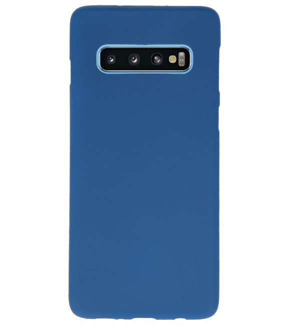 Samsung Samsung Galaxy S10 Navy | Backcover Siliconen  Hoesje  | WN™ - hoesjeshoek