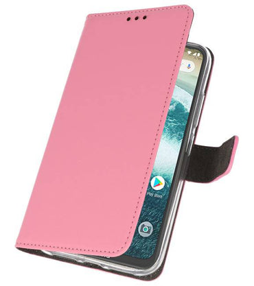 Motorola Moto One Power Roze | Wallet Case Hoesje  | WN™ - hoesjeshoek