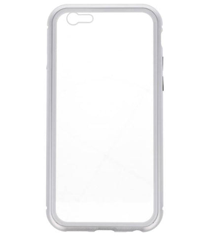 iPhone 6 Zilver - Transparant | Magnetic Back Cover  | WN™ - hoesjeshoek