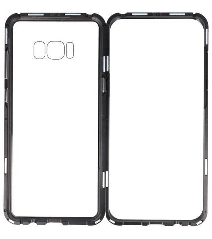 Samsung Galaxy S8 Plus Zilver -Transparant | Magnetic Back Cover  | WN™ - hoesjeshoek