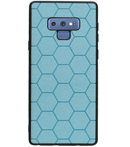 Samsung Samsung Galaxy Note 9 Blauw | Hexagon Hard Case  | WN™ - hoesjeshoek