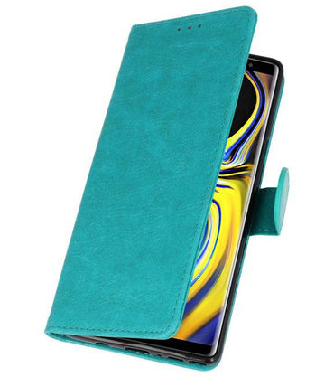 Samsung Galaxy Note 9 Groen | bookstyle / book case/ wallet case Wallet Cases Hoes  | WN™ - hoesjeshoek