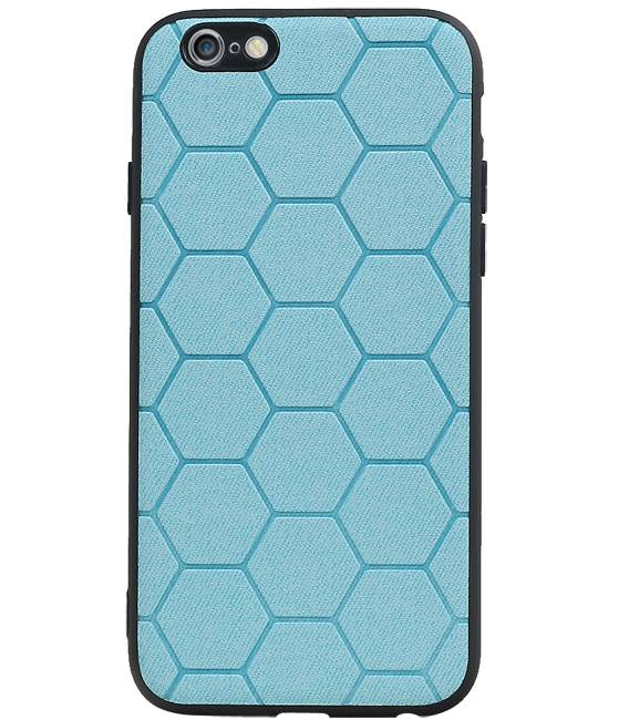 iPhone 6 / 6s Blauw | Hexagon Hard Case  | WN™ - hoesjeshoek