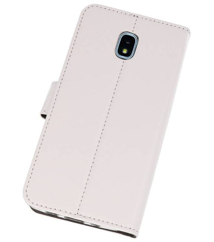 Samsung Galaxy J3 2018 Wit | Wallet Case Hoesje  | WN™ - hoesjeshoek