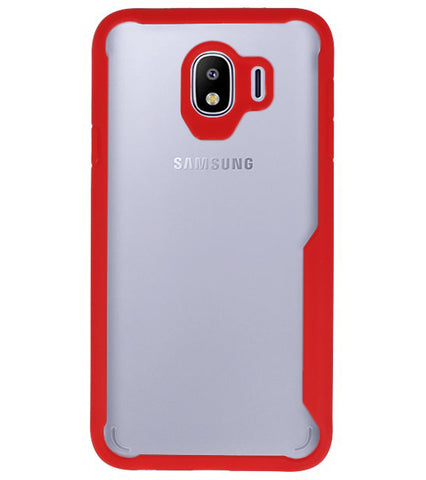 Samsung Samsung Galaxy J4 Rood | Focus Transparant Hard Cases  | WN™ - hoesjeshoek