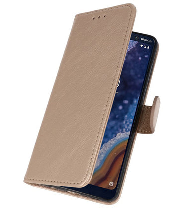 Nokia 9 PureView Goud | bookstyle / book case/ wallet case Wallet Case Hoesje  | WN™ - hoesjeshoek