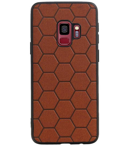 Samsung Samsung Galaxy S9 Bruin | Hexagon Hard Case  | WN™ - hoesjeshoek