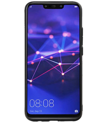 Huawei P20 Lite Zwart | Hexagon Hard Case  | WN™ - hoesjeshoek