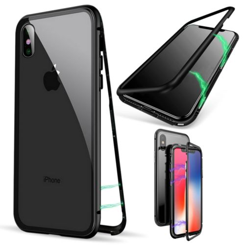 iPhone X Zwart | Magnetic Back Cover  | WN™ - hoesjeshoek