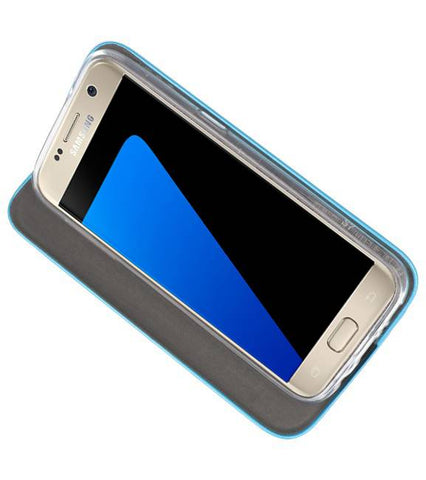 Samsung Galaxy S7 Blauw | Slim Folio Case  | WN™ - hoesjeshoek