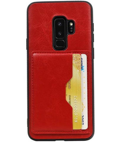Samsung Galaxy S9 Plus Rood | Staand Back Cover 2 Pasjes  | WN™ - hoesjeshoek