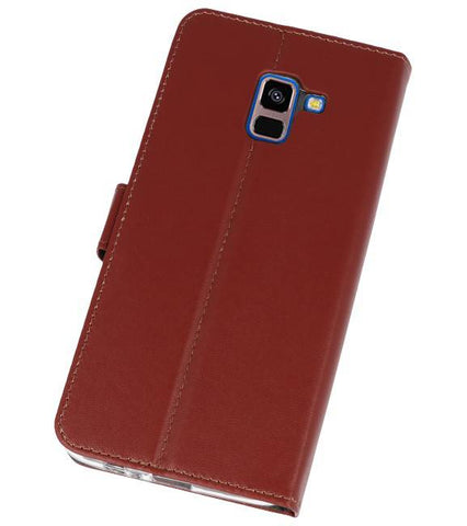 Samsung Galaxy A8 Plus 2018 Bruin | Wallet Case Hoesje  | WN™ - hoesjeshoek