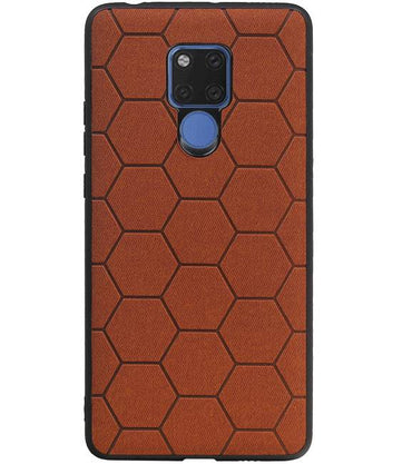 Huawei Mate 20 X Bruin | Hexagon Hard Case  | WN™ - hoesjeshoek