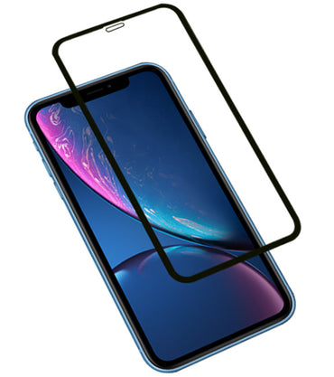 iPhone XR Zwart | 3D Tempered glass/ beschermglas/ screenprotector  | WN™ - hoesjeshoek