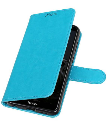 | Huawei P Smart Portemonnee booktype wallet case Turquoise | WN™ - hoesjeshoek