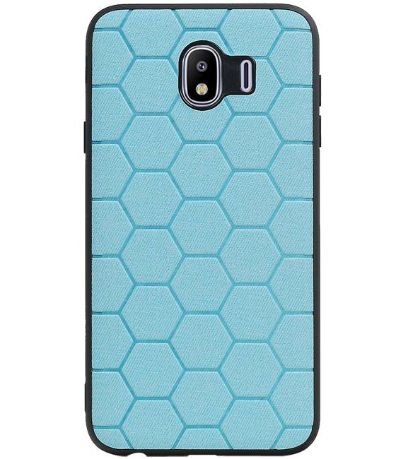 Samsung Samsung Galaxy J4 Blauw | Hexagon Hard Case  | WN™ - hoesjeshoek