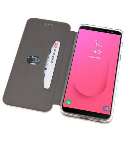 Samsung Galaxy J8 2018 Goud | Slim Folio Case  | WN™ - hoesjeshoek