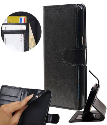 | Samsung Galaxy Note 8 Portemonnee hoesje booktype wallet case Zwart | WN™ - hoesjeshoek