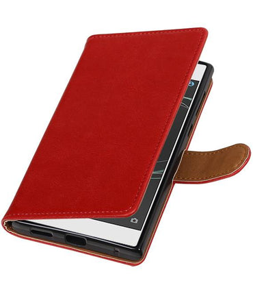 Sony Xperia L1 Rood | Premium TPU PU Leder bookstyle / book case/ wallet case  | WN™ - hoesjeshoek