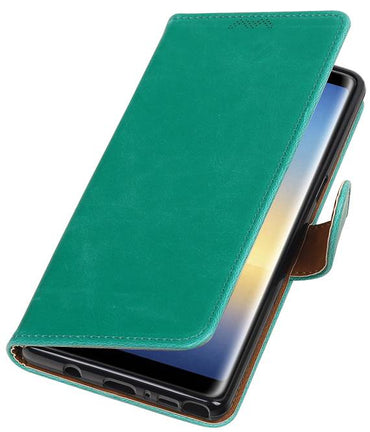 Samsung Galaxy Note 8 Groen | Premium TPU PU Leder bookstyle / book case/ wallet case  | WN™ - hoesjeshoek
