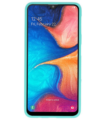 Samsung Samsung Galaxy A20 Turquoise | Backcover Siliconen  Hoesje  | WN™ - hoesjeshoek