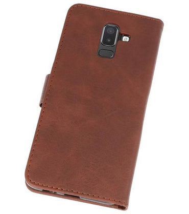Samsung Galaxy J8 Mocca | bookstyle / book case/ wallet case Wallet Case Hoesje  | WN™ - hoesjeshoek