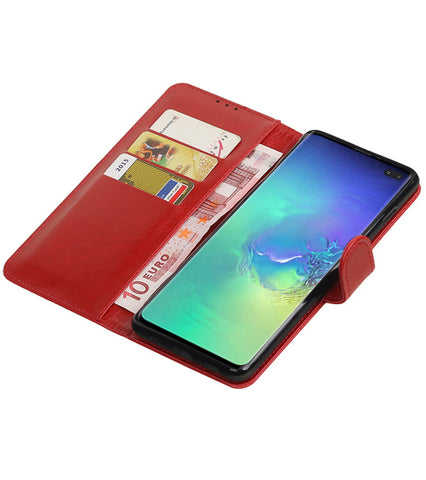 Samsung Samsung Galaxy S10 Plus Rood | Premium bookstyle / book case/ wallet case  | WN™ - hoesjeshoek