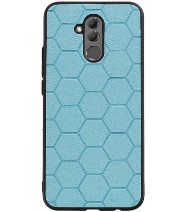 Huawei P20 Lite Blauw | Hexagon Hard Case  | WN™ - hoesjeshoek