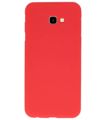 Samsung Samsung Galaxy J4 Plus Rood | Backcover Siliconen  Hoesje  | WN™ - hoesjeshoek