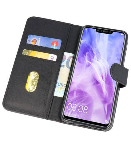 Huawei Nova 3 Zwart | bookstyle / book case/ wallet case Wallet Cases Hoes  | WN™ - hoesjeshoek