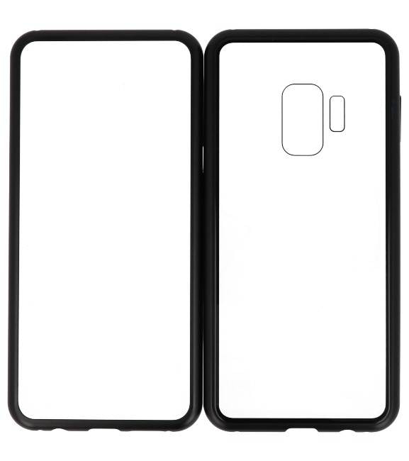 Samsung Galaxy S9 Zwart- Transparant | Magnetic Back Cover  | WN™ - hoesjeshoek