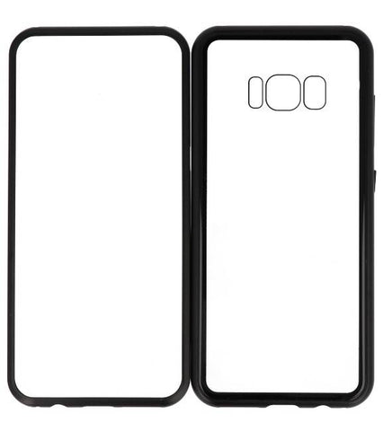 Samsung Galaxy S8 Zwart- Transparant | Magnetic Back Cover  | WN™ - hoesjeshoek