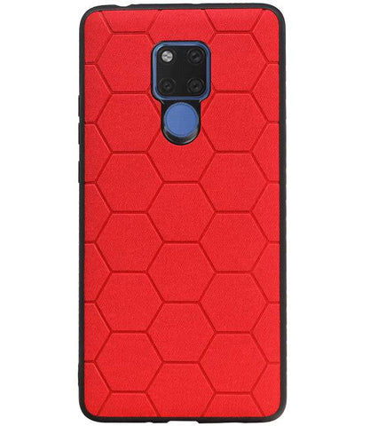 Huawei Mate 20 X Rood | Hexagon Hard Case  | WN™ - hoesjeshoek