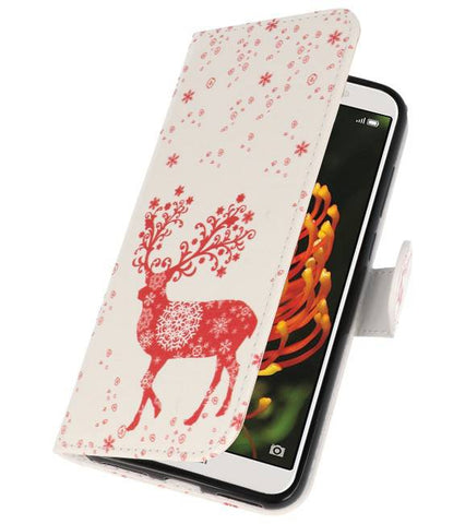 Huawei Y6 2018 | Hert bookstyle / book case/ wallet case Hoesje  | WN™ - hoesjeshoek