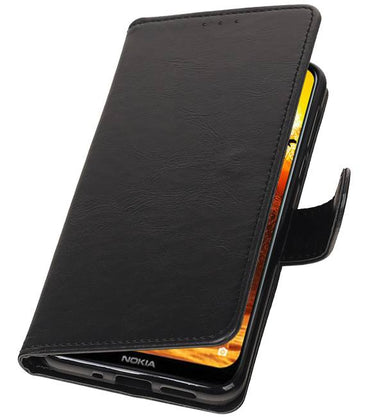 Nokia 8.1 Zwart | Premium bookstyle / book case/ wallet case  | WN™ - hoesjeshoek