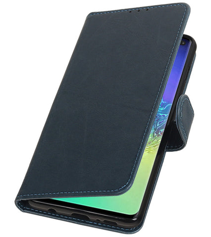 Samsung Samsung Galaxy S10 Plus Blauw | Premium bookstyle / book case/ wallet case  | WN™ - hoesjeshoek