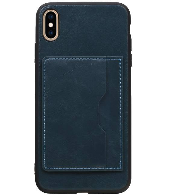 iPhone XS Max Navy | Staand Back Cover 1 Pasjes  | WN™ - hoesjeshoek
