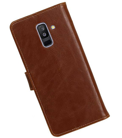 Samsung Samsung Galaxy A6 Plus 2018 Bruin | Premium bookstyle / book case/ wallet case  | WN™ - hoesjeshoek