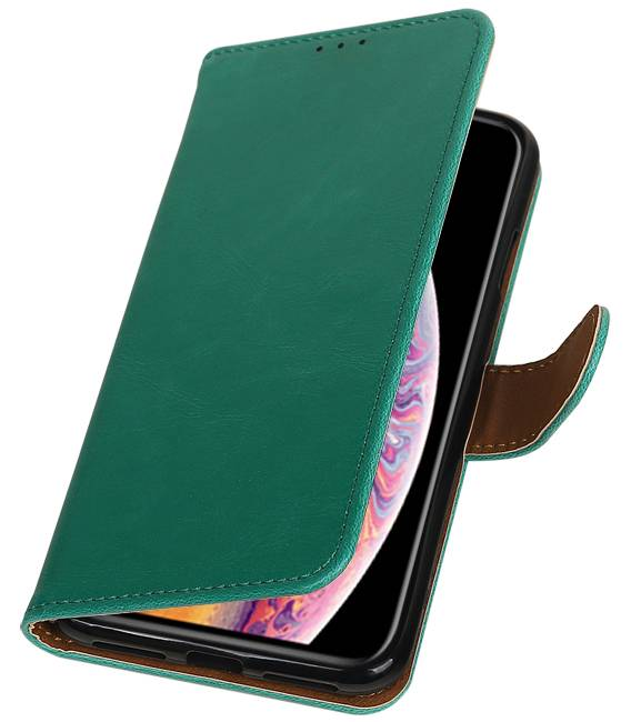 iPhone XS Max Groen | Premium bookstyle / book case/ wallet case  | WN™ - hoesjeshoek