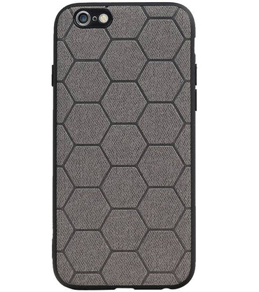 iPhone 6 / 6s Grijs | Hexagon Hard Case  | WN™ - hoesjeshoek