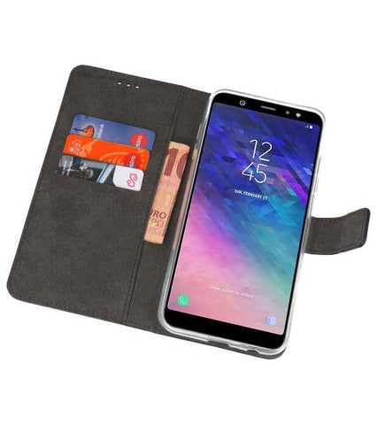 Samsung Galaxy A6 Plus (2018) Navy | Wallet Case Hoesje  | WN™ - hoesjeshoek