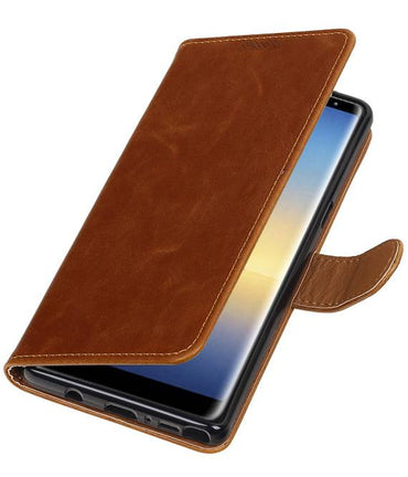 Samsung Galaxy Note 8 Bruin | Premium TPU PU Leder bookstyle / book case/ wallet case  | WN™ - hoesjeshoek