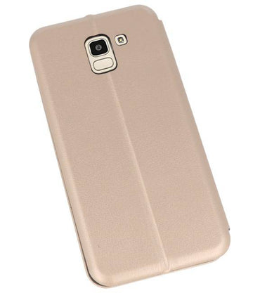 Samsung Galaxy J6 2018 Goud | Slim Folio Case  | WN™ - hoesjeshoek