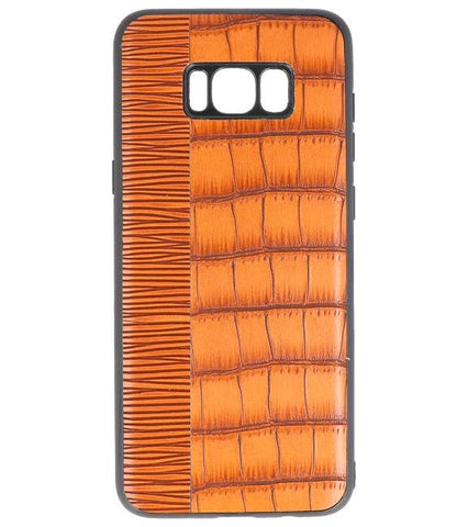 Samsung Samsung Galaxy S8 Plus Bruin | Croco Hard Case  | WN™ - hoesjeshoek