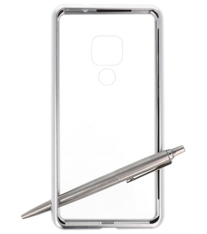 Huawei Mate 20 Zilver - Transparant | Magnetic Back Cover  | WN™ - hoesjeshoek