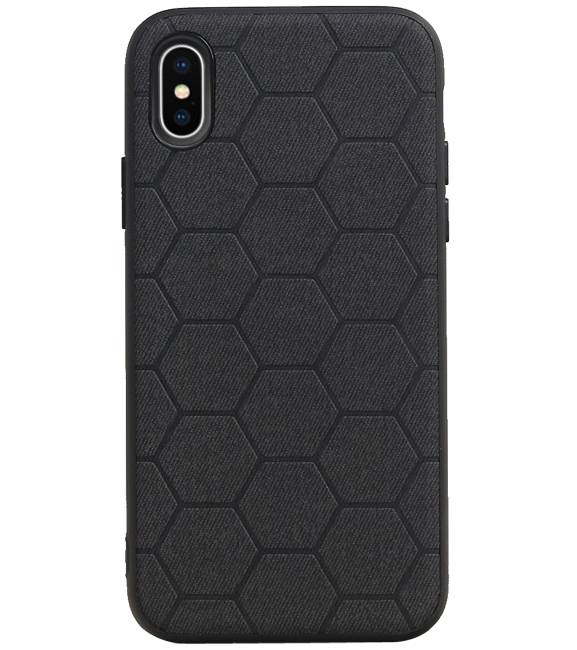 iPhone X / iPhone XS Zwart | Hexagon Hard Case  | WN™ - hoesjeshoek